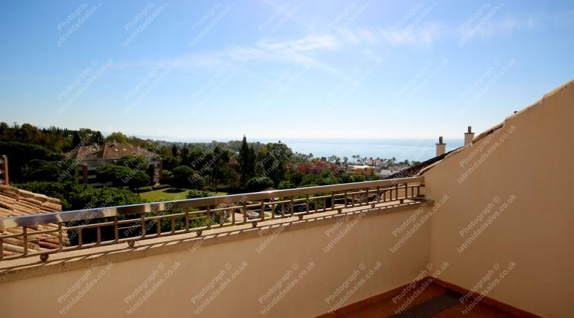 Beautiful Sea Views, Luxury Penthouse Apartment for Sale, La Trinidad, Marbella